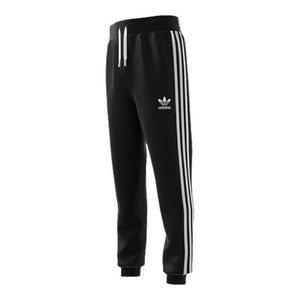 black adidas sweatpants with stripes on the sides